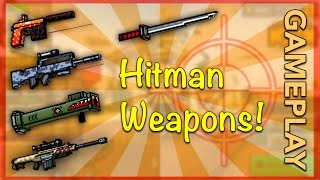 getlinkyoutube.com-Pixel Gun 3D - Hitman Weapon Gameplay!