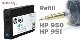Refill HP 950, HP 951 cartridges with QU-Fill refill tool