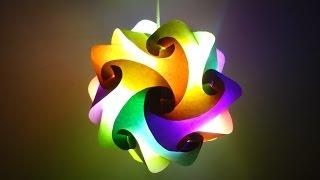 getlinkyoutube.com-Paper Crafts (Home Decoration Ideas):Beautiful Multicoloured Lantern : Christmas Decor
