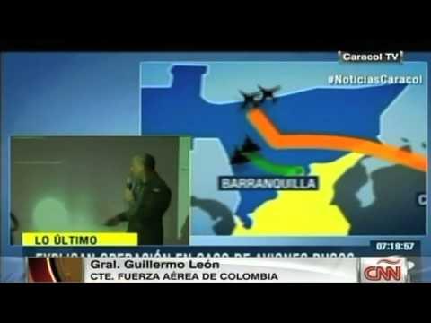 Aviones rusos volaron sin permiso sobre Colombia