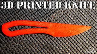 getlinkyoutube.com-3D Printed Knife - Will It Cut Paper?