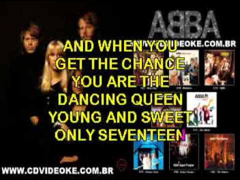 ABBA - Dancing Queen - Karaoke --4GwPAE1yM4