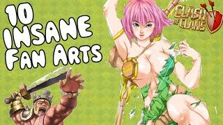 getlinkyoutube.com-10 INSANE CLASH OF CLANS FAN ARTS