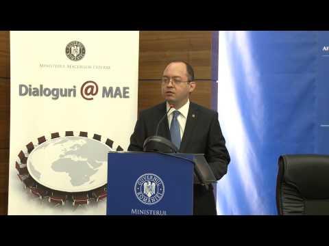Discursul ministrului Bogdan Aurescu la prima ediție a dezbaterilor Dialoguri@MAE