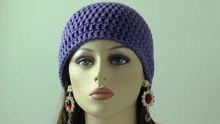 getlinkyoutube.com-Crochet Beanie for Beginners - Adult Sizes