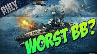 getlinkyoutube.com-WORST Battleship? World Of Warships Battleships Gameplay!