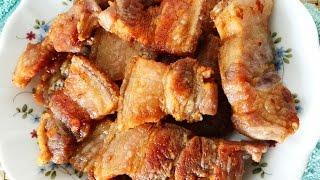 Easy Fried Pork Belly with Salt Recipe