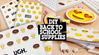 getlinkyoutube.com-DIY | Emoji Back To School Supplies - Notebooks, Pencil Holder & Bookmark