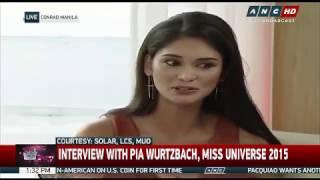 getlinkyoutube.com-ANC Interview With Pia Wurtzbach, Miss Universe 2015
