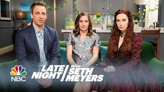 Melisandre at a Baby Shower - Late Night with Seth Meyers width=