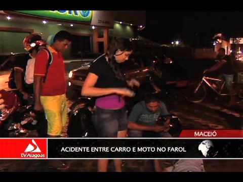 ACIDENTE ENTRE CARRO E MOTO NO FAROL