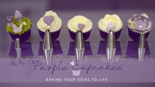 getlinkyoutube.com-baking, buttercream and more. Flat Top Cupcakes and Swirls using favourite nozzles - Purple Cupcakes