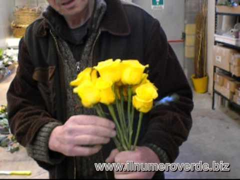 Come realizzare un mazzo di fiori multicolore a forma di for Come costruire un mazzo di 2 piani