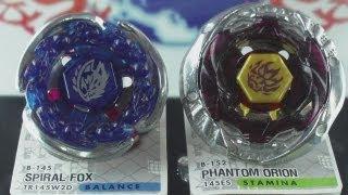 getlinkyoutube.com-EPIC Battle Spiral Fox TR145W²D VS Phantom Orion 145ES (Beyblade Metal Fury Hasbro) HD! AWESOME