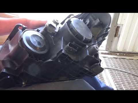 Как заменить все лампы и снять переднюю фару Nissan Qashqai I Рестайлинг.