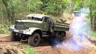 getlinkyoutube.com-Militärtreffen Garnisonschau 2015 Jüterbog ZIL-157 Kraz Tatra-813 BMP-1 MTLB SFL-2S1 GAZ-66 Ural NVA
