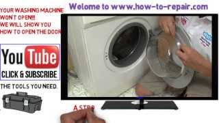 getlinkyoutube.com-How to open a washing machine door that won't open normally.