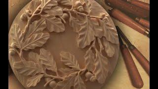 getlinkyoutube.com-Резьба по дереву. Ветка с дубовыми листьями. 9 часть (комментарии)