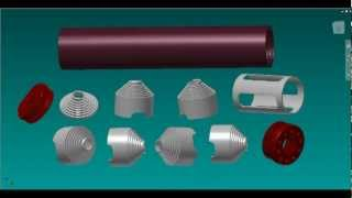 getlinkyoutube.com-Suppressor/Silencer 3D Renders (3D CAD & KeyShot. 3D Models renders and Inventor snapshots )