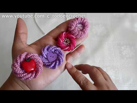 Flor en crochet / flor en 3D/ tutorial fácil y rápido