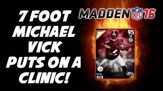 getlinkyoutube.com-7 FOOT MICHAEL VICK PUTS ON A CLINIC! 100 THROW POWER! Madden 16 Draft Champions