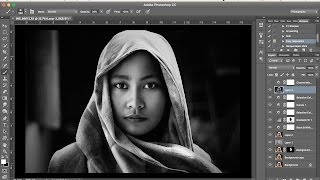 Photoshop Tutorial | Dramatic Black and White  Simple Process