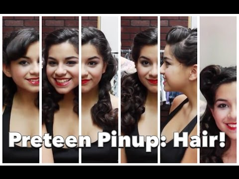 Preteen Pinup 2: Six Fast and Easy Vintage Hair Styles! by CHERRY DOLLFACE