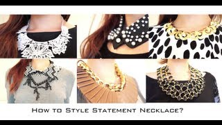 getlinkyoutube.com-How to Style Statement Necklaces Fashion Lookbook