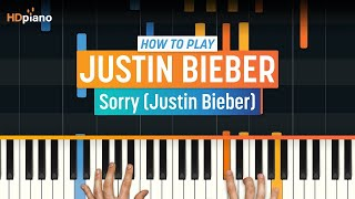 "getlinkyoutube.com-How To Play ""Sorry"" by Justin Bieber 
