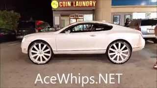 "AceWhips.NET- First in the World Bentley Coupe on 28"" Forgiatos"