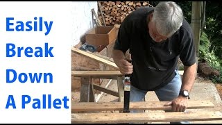 getlinkyoutube.com-How to Easily Disassemble a Pallet - Beginners #10 - woodworkweb