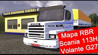 getlinkyoutube.com-ETS 2 - Fazendo entrega com a Scania 113H bicuda no mapa RBR (Criciúma) + G27