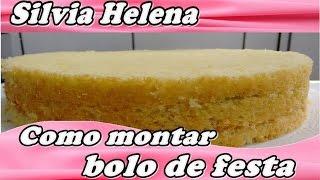 getlinkyoutube.com-como montar um bolo de aniversário - POR SILVIA HELENA