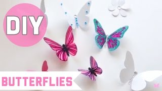 CRAFTS:How to make butterflies with recycled plastic