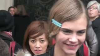getlinkyoutube.com-Cara Delevingne paparazzi // Beautiful smile and voice