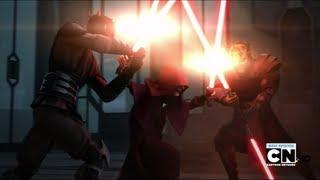 getlinkyoutube.com-Darth Maul & Savage Opress VS Darth Sidious