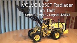 getlinkyoutube.com-Test Lego VOLVO L350F Radlader: Lego Technic (Set 42030)