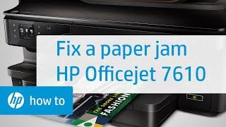 getlinkyoutube.com-HP Officejet 7610 Paper jam