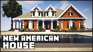 getlinkyoutube.com-Minecraft - American Style Mansion