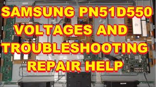 getlinkyoutube.com-Samsung PN51D550C1FXZA Voltages and Troubleshooting