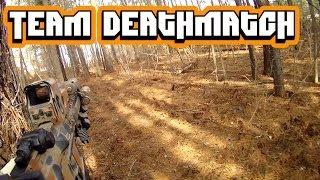 getlinkyoutube.com-Team Deathmatch 2-8-14 (S.E.S. AIRSOFT) G&P MK18 Mod 1