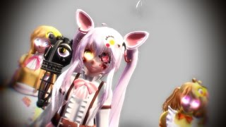 getlinkyoutube.com-[MMD-FNAF] - This Little Girl - Toy Chica, Mangle, Chica