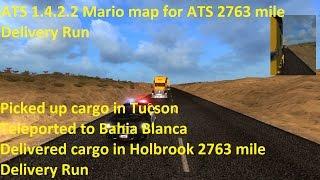 getlinkyoutube.com-ATS 1.4.2.2 Mario map for ATS 2763 mile Delivery Run