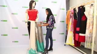 getlinkyoutube.com-How to Drape Saree in Pant Style - Innovative Saree Draping