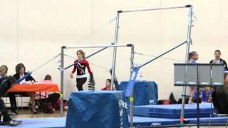 getlinkyoutube.com-Ariana D. Gymnastics Age 7 Bar routine 3rd MN State Qualifier