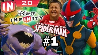 getlinkyoutube.com-Spiderman Play Set - Part 1: Disney Infinity 2.0 (Dad & Son Commentary)
