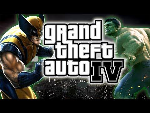 GTA 4: Wolverine MOD VS HULK VS SpiderMan - EPIC Battle & Funny Moments !!!