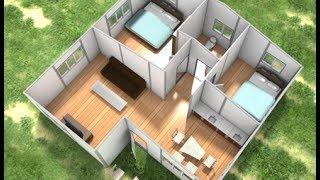 getlinkyoutube.com-Prefab homes - Sandwich Panels Building