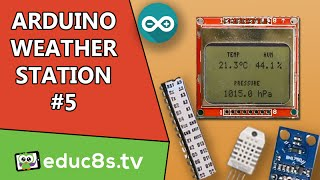 getlinkyoutube.com-Arduino Project: Weather Station Project with ATMEGA328P, DHT22, BMP180, BH1750 and a Nokia 5110 LCD