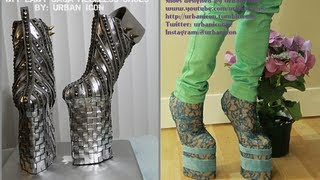 getlinkyoutube.com-LADY GAGA HEELLESS SHOES | HANDMADE